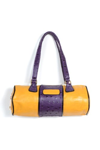 Circle Me Bag in Purple and Yellow