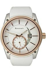 Rinovati Fashion Collection Rose-gold White Enamel Dial Women's watch #006