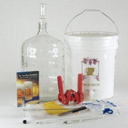Strange Brew Home-Brew Beer Brewing Starter Equipment Kit (K7) Gold Kit with 5 gallon Glass Carboy