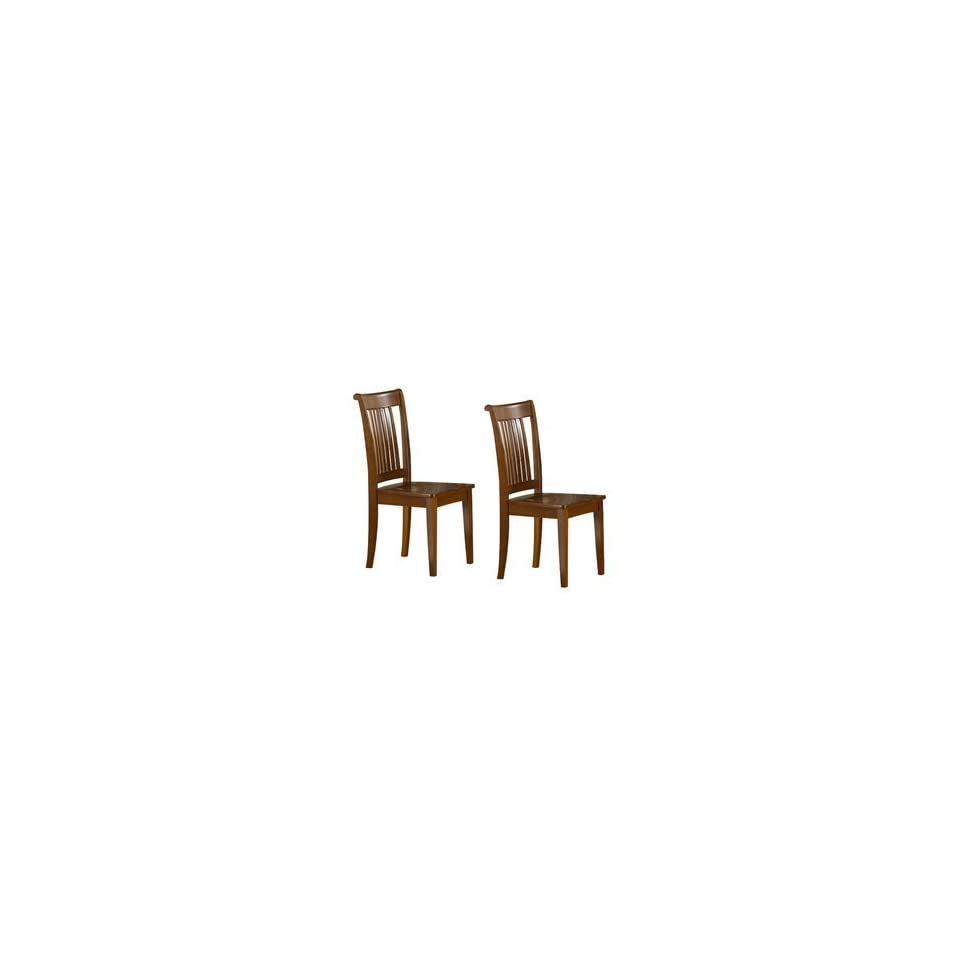 Surprising East West Furniture Pc Sbr W Portland Dining Chair Saddle Gmtry Best Dining Table And Chair Ideas Images Gmtryco