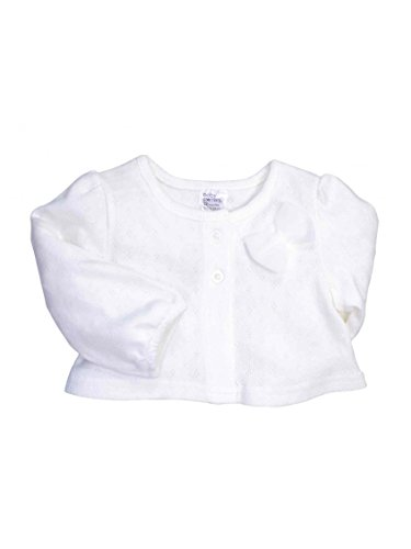 Infant Girls Pointelle Cardigan With A Bow By Baby Starters - White - 18 Mths