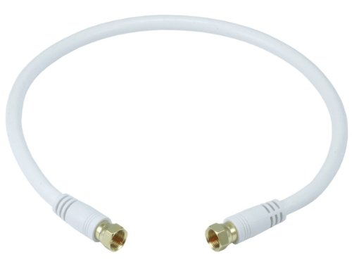 Monoprice 105360 75 Ohm Quad Shielded CL2 F-Type Coaxial RF Cable