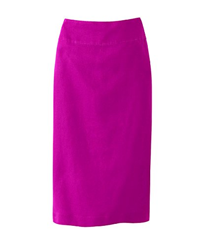 Pink Berry Washed Linen Skirt (06)