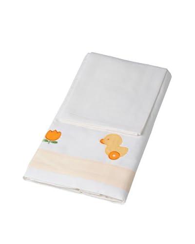 FoppaPedretti Juego De Sábanas Papere & Paperi Multicolor 60 x 120 cm