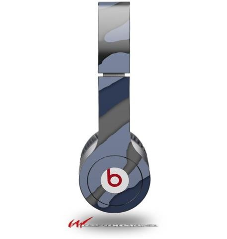 Camouflage Blue Decal Style Skin (Fits Genuine Beats Solo Hd Headphones - Headphones Not Included)