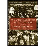 img - for We Who Dared to Say No to War. (Basic Books,2008) [Paperback] book / textbook / text book