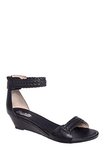 Spelling Bee Low Wedge Ankle Strap Sandel