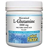 Natural Factors - Micronized L-Glutamine 5000mg, Support for Muscle Tissue & Immune System, 90 Servings (16 oz)