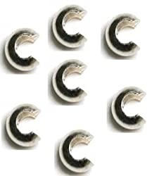 Crimp Covers Sterling Silver 4mm Q.20