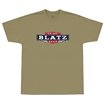 Amazon.com: Blatz - Mens Logo T-shirt Medium Tan: Clothing