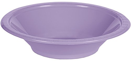 Creative Converting 28193051 20 Count Touch of Color Plastic Bowl, 12 oz, Luscious Lavender