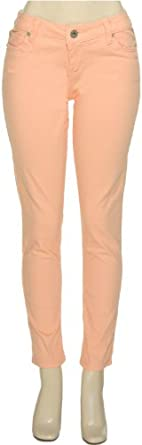 BRAND NAME Stretch Skinny Pants [DZZ-1266], PEACH, 27