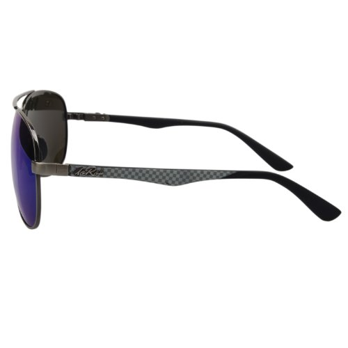 Aoron Aviator Polarized Sunglasses Mirrored Lenses (Blue ...