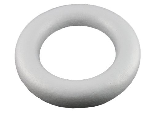 "Smooth Foam Wreath Ring (White) - 13"" Diameter x 2.5"" Inches Thick for Crafts, School and Modeling Projects"