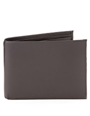 Leather Tab Billfold Wallet