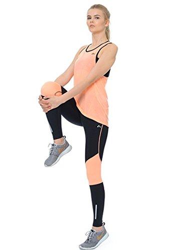 Only Play -  Pantaloni sportivi  - Donna nero/arancione fluo XS