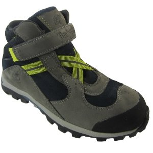 Timberland Boys Hypertrail Waterproof Velcro Mid Boots - Grey / Navy