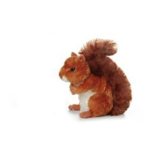 "Nutsie Brown Squirrel 6.5"" By Aurora front-11814"