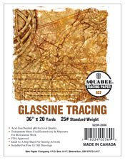 Bee Paper Glassine Tracing Roll, 24-Inch by 20-Yards