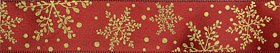 38mm-wide-red-satin-christmas-ribbon-with-gold-snow-flake-print10yds-by-christmas-ribbon