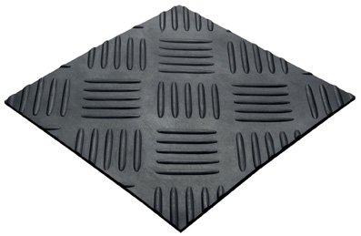 3MM X 1.2M X 5M 5 BAR CHEQUER PLATE MAT - 5 Bar Chequer Plate Matting (Industrial Rubber Flooring)
