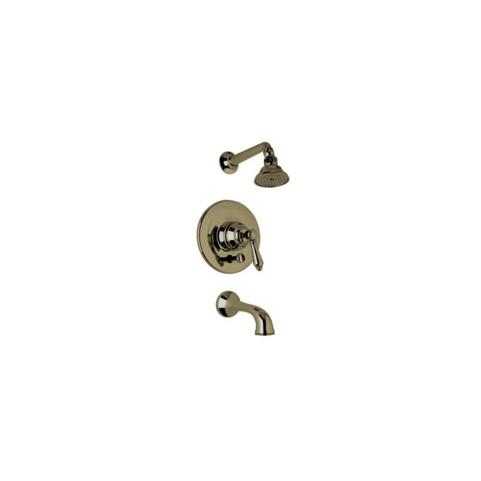 Rohl AKIT32LM Country Bath Shower System with Pressure Balanced Valve Trim, Show, Tuscan Brass