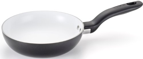 T-fal C92102 Initiatives Nonstick Ceramic Coating PTFE PFOA and Cadmium Free Scratch Resistant Dishwasher Safe Oven Safe Fry Pan Cookware, 8-Inch, Black (Ceramic Nonstick Fry Pan compare prices)