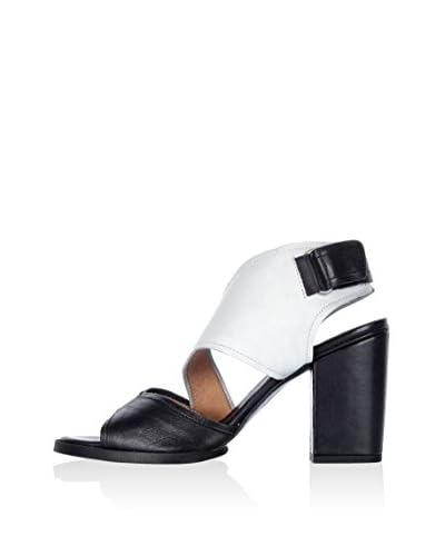 Hangar Sandalo Con Tacco Brest [Nero/Bianco]