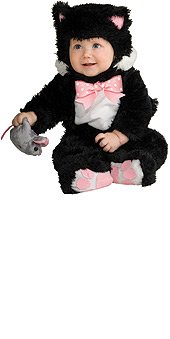 Noahs Ark Inky Black Kitty Infant Costume Size 0-6 Mo. front-1053390