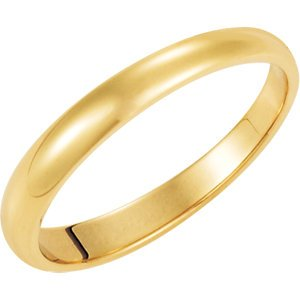 Genuine IceCarats Designer Jewelry Gift 10K Yellow Gold Wedding Band Ring Ring. 03.00 Mm Half Round Tapered Band In 10K Yellowgold Size 8