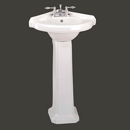 Learn More About Corner Sinks White Vitreous China, Portsmouth Corner Pedestal Sink White 32 3/4in. ...