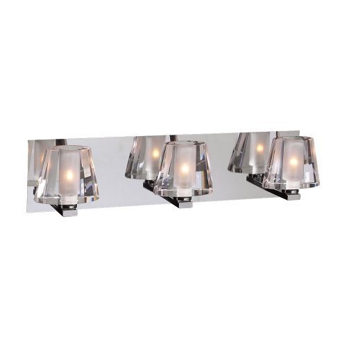 PLC Lighting 1023 PC 3 Light Vanity, Cheope Collection, Polished Chrome Finish promo code 2016
