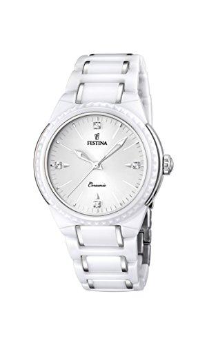 Festina F16698/1 - Reloj de pulsera mujer, cerámica, color blanco