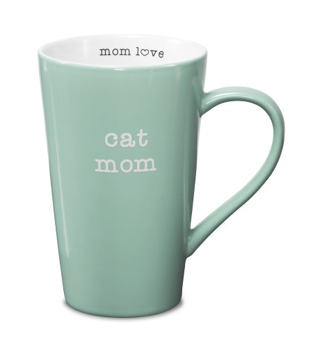 Pavilion Gift Company 14021 Stoneware Mug, Cat Mom
