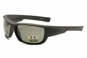 Under Armour Eyewear UA Rumble Sunglasses (Satin Black w/ Silver Battle Print on