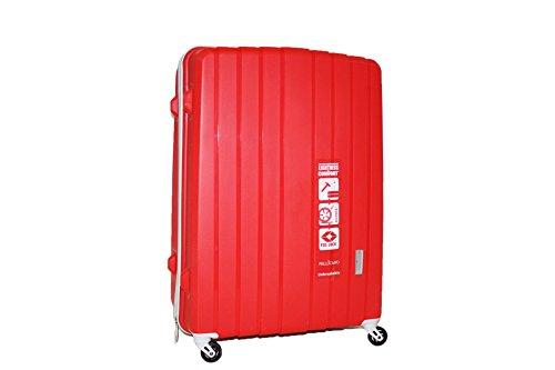 Trolley 4 Ruote SuperFlex L'indistruttibile Pellicano POP Grande Rosso con chiusura TSA per Stati Uniti
