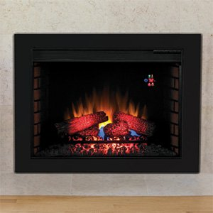 Classic Flame ClassicFlame 28 in SpectraFire Fireplace Insert & Flush Mount Conversion Kit - 28EF023GRA-BBKIT28 photo B009MN6YVU.jpg