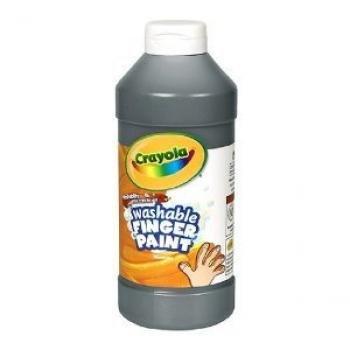Binney & Smith Crayola(R) Washable Finger Paint, 16 Oz., Black - 1