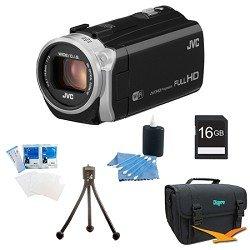 JVC GZ-EX555BUS - HD Everio Camcorder 38x Zoom (Black) with 16GB Bundle