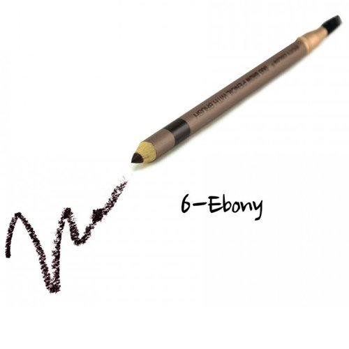 (3 Pack) CITY COLOR Duo Brow Pencil With Brush - Ebony
