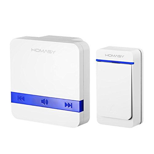 campanello-wireless-impermeabile-homasy-campanello-portatile-kit-con-52-chime-waterproof-ip44-funzio