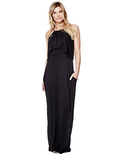 GUESS Womens Brian Sleeveless Ruffled Maxi Dress