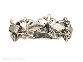 Sterling Silver Multiple Frog Ring Size 8