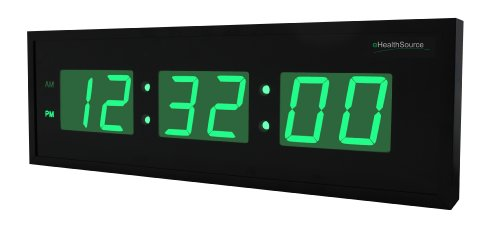 Ehealthsource Huge Large Big Oversized Digital Led Clock (30 Inch, Green)