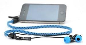 ジップアップ インナータイプ イヤフォン「Zipbuds(ジップバズ)」 ブルー