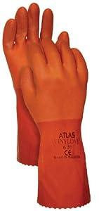 Atlas Glove C620M Medium Orange Vinylove PVC Gloves (Discontinued by Manufacturer)