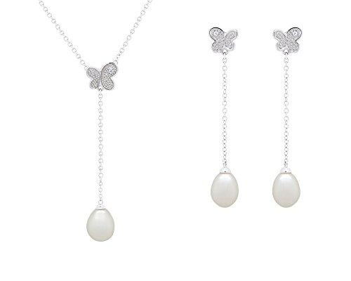 Précieuses Perles Donna  925  Argento   Perla d'acqua dolce bianco Perla FINEOTHER