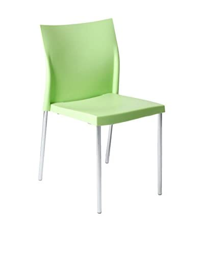 Eurostyle Yeva Side Chair, Green