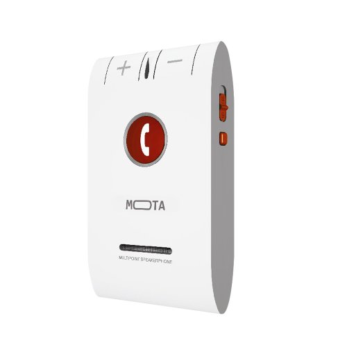 Mota Hd+ Bluetooth 4.0 Handsfree Car Kit For Multi Devices - Retail Packaging - White