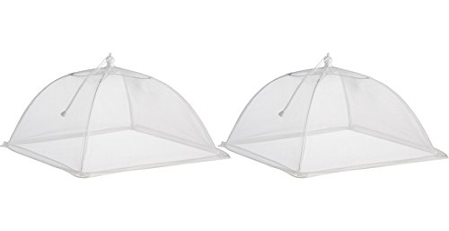 Smart Living 13-Inch Collapsible Food Saver Tent White 2-Pack